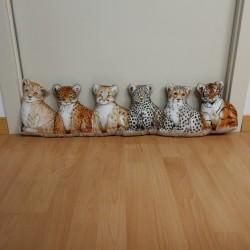 Paraspifferi con stampa animali felini.